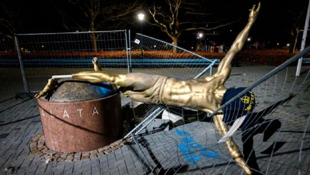 Zlatan Ibrahimovic statue to be relocated after repeated vandalism - Bóng Đá