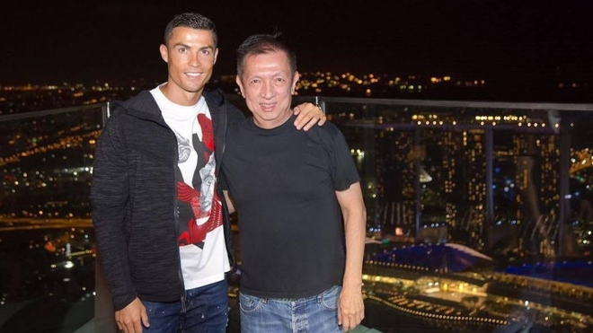 Cristiano Ronaldo congratulates Peter Lim for donation in fight against COVID-19 - Bóng Đá