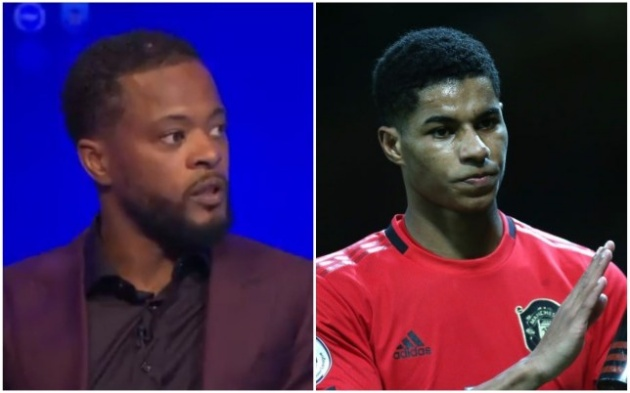 Marcus Rashford has said he will never leave Manchester United, claims Patrice Evra - Bóng Đá